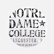 """Notre Dame College 3.5"""" Button"""
