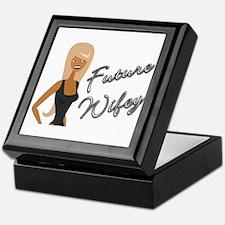 Curvy Font Future Wifey Keepsake Box