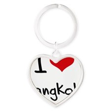 I Heart BANGKOK Heart Keychain