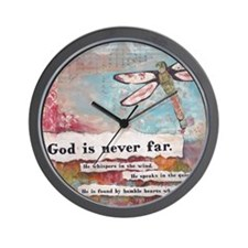 God is Never Far Wall Clock
