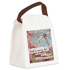 God is Never Far Canvas Lunch Bag