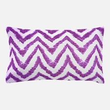Funky Fuzzy Purple Zigzags Pillow Case