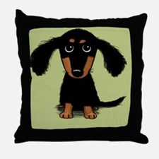 doxiecoaster Throw Pillow