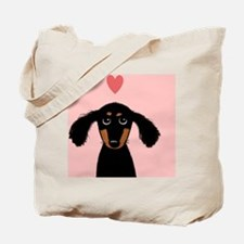 doxiecoasterheart Tote Bag