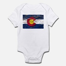Colorado retro wash flag Infant Bodysuit