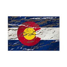 Colorado retro wash flag Rectangle Magnet (10 pac