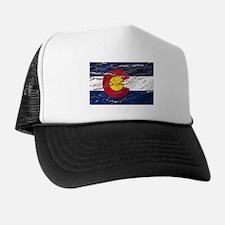 Colorado retro wash flag Trucker Hat