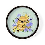 Honey Bee Dance Wall Clock