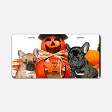 Halloween French Bulldogs Aluminum License Plate