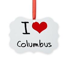 I Heart COLUMBUS Ornament