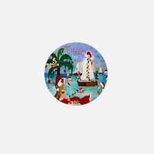 Christmas Boat Parade Mini Button