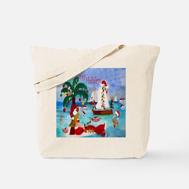 Christmas Boat Parade Tote Bag
