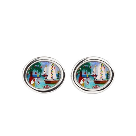 Christmas Boat Parade Cufflinks