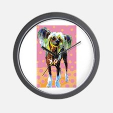 Seeing Spots Chinese Crested Wall Clock
