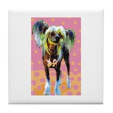 Seeing Spots Chinese Crested Tile Coaster
