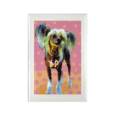 Seeing Spots Chinese Crested Rectangle Magnet (100