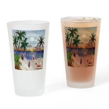 Santas Beach Break Drinking Glass