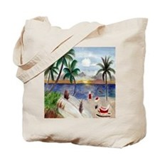 Santas Beach Break Tote Bag