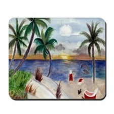 Santas Beach Break Mousepad