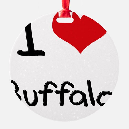 I Heart BUFFALO Ornament