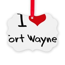 I Heart FORT WAYNE Ornament