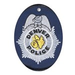 Denver Police Oval Ornament