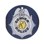 Denver Police Ornament (Round)