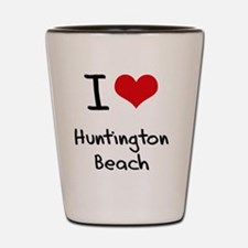 I Heart HUNTINGTON BEACH Shot Glass