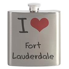 I Heart FORT LAUDERDALE Flask