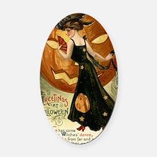Victorian Halloween Oval Car Magnet