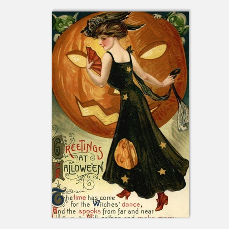 Victorian Halloween Postcards (Package of 8)
