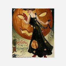 Victorian Halloween Throw Blanket