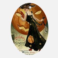 Victorian Halloween Oval Ornament