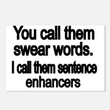 You call them swear words Postcards (Package of 8)