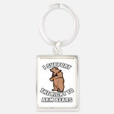 I Support The Right To Arm Bears Portrait Keychain