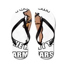 I Support The Right To Arm Bears Flip Flops
