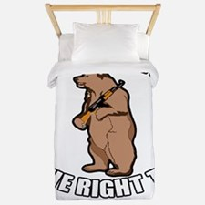 I Support The Right To Arm Bears Twin Duvet