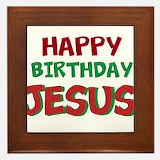 Happy Birthday Jesus Framed Tile