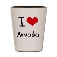 I Heart ARVADA Shot Glass
