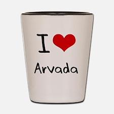 I Heart ARVADA Shot Glass