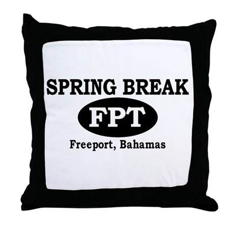 Freeport, Bahamas Throw Pillow