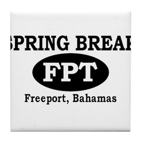 Freeport, Bahamas Tile Coaster