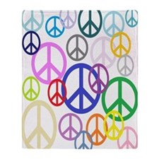 Peace Sign Collage FF Throw Blanket