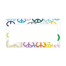 Peace Sign Collage BB License Plate Holder