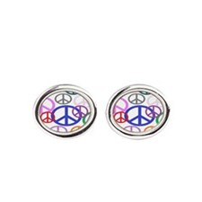 Peace Sign Collage BB Cufflinks