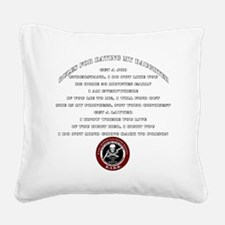 Dads Against Daughters Dating Square Canvas Pillow