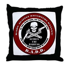 Dads Against Daughters Dating Throw Pillow