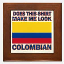 Does This Shirt Make Me Look Colombian Framed Tile