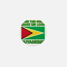 Does This Shirt Make Me Look Guyanese? Mini Button