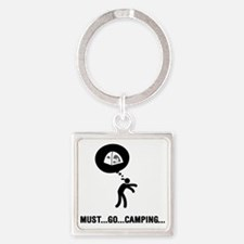 Camping-C Square Keychain